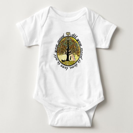 All You Need is Love Tree of Life with Rainbow Baby Bodysuit