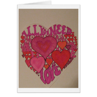 All You Need is Love Valentine Cards