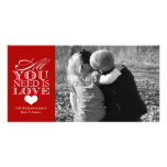 All You Need Is Love | Valentine's Day Customised Photo Card