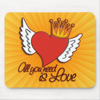 All You Need Is Love | yellow shine Mouse Pad