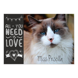 All You Need is Pet Love 13 Cm X 18 Cm Invitation Card