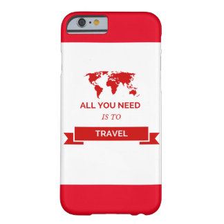 All you need is to travel - network barely there iPhone 6 case