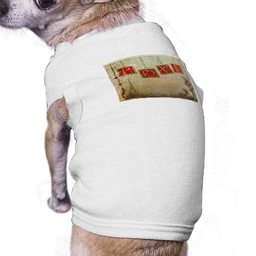 all you need is ... vintage love pet t-shirt