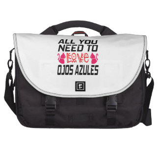 All You Need To Love Ojos Azules Cat Commuter Bags