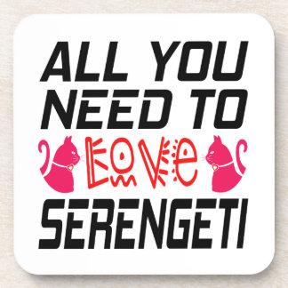 All You Need To Love Serengeti Cat Coaster