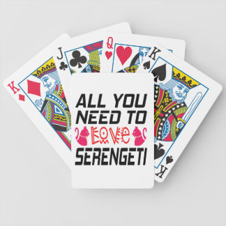 All You Need To Love Serengeti Cat Bicycle Card Decks