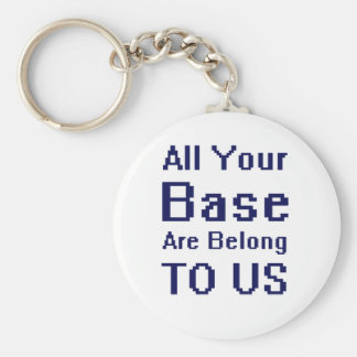 All your Base are Belong to Us Basic Round Button Key Ring