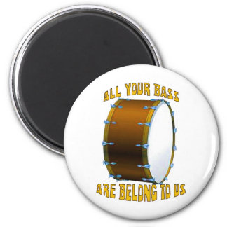 All Your Bass 6 Cm Round Magnet