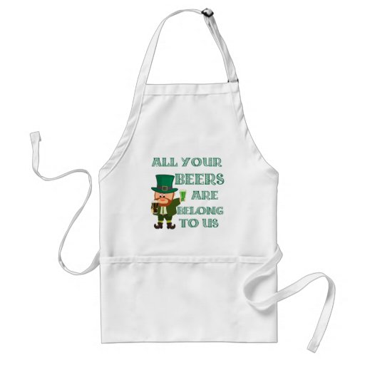 All your beers are belong to us aprons