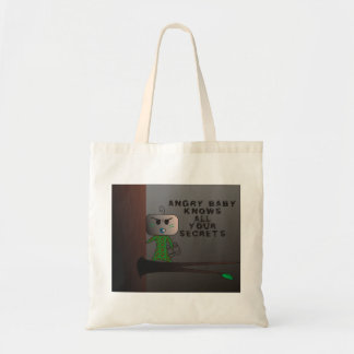 """All your secrets"" Tote bag - An Angry Baby Design"