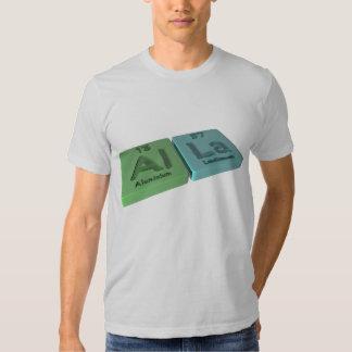 Alla as Aluminium Al and Lanthanum La Tshirts