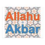 Allahu Akbar Post Card