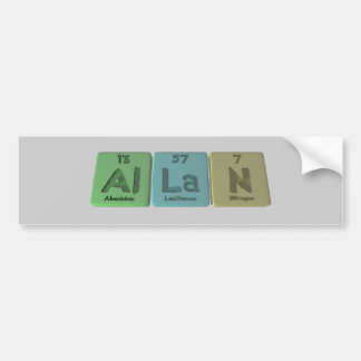 Allan as Aluminium Lanthanum Nitrogen Car Bumper Sticker