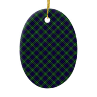 Allan Clan Tartan Designed Print Christmas Ornament