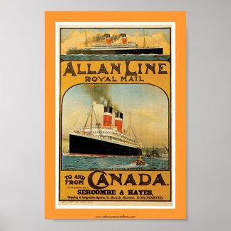 Allan Line Steamship Poster