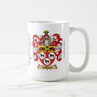 Allan, the Origin, the Meaning and the Crest Basic White Mug