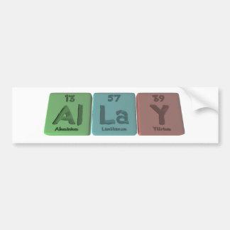 Allay-Al-La-Y-Aluminium-Lanthanum-Yttrium Bumper Sticker