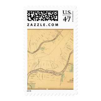 Allegheny River Pa, Map Postage Stamps