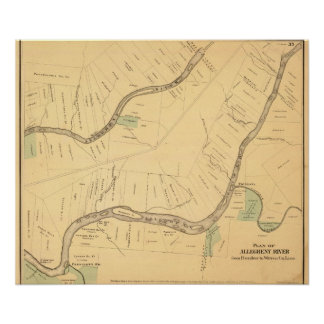 Allegheny River Pa, Map Poster