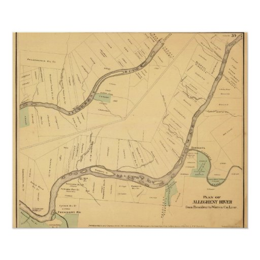 Allegheny River Pa, Map Print