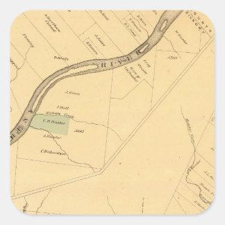 Allegheny River Pa, Map Square Sticker