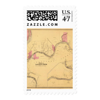 Allegheny River, PA Postage Stamp