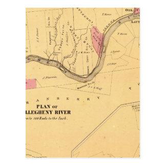 Allegheny River, PA Postcard