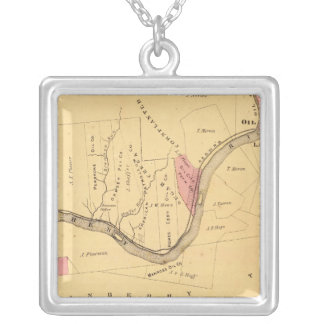 Allegheny River, PA Square Pendant Necklace