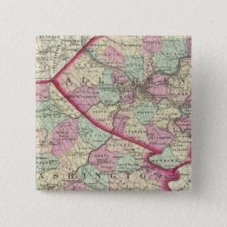 Allegheny, Washington, Greene counties 15 Cm Square Badge
