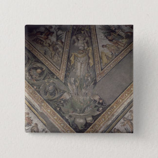 Allegorical figure of Autumn, detail of a mosaic p 15 Cm Square Badge