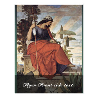 Allegorical Figure Of Italia By Veit Philipp Custom Flyer