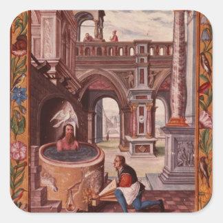 Allegorical illustration of an Alchemist at Sticker