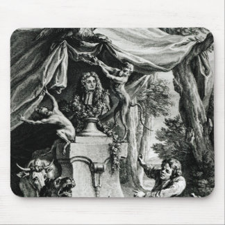 Allegorical portrait of Jean de La Fontaine Mouse Mat