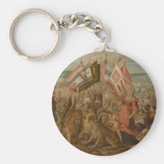 Allegorie on the battle of BraÅŸov Hans von Aachen Basic Round Button Key Ring