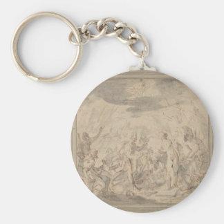 Allegorie on the battle of Șelimbăr Hans von Aache Basic Round Button Key Ring