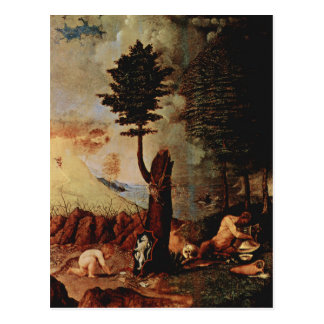 Allegory allegory of prudence by lorenzo lotto postcard