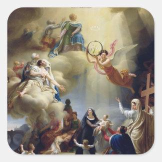 Allegory in Honour of the Birth of Henri de Square Sticker