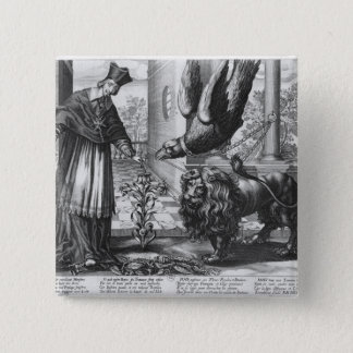 Allegory in praise of Cardinal Richelieu 15 Cm Square Badge