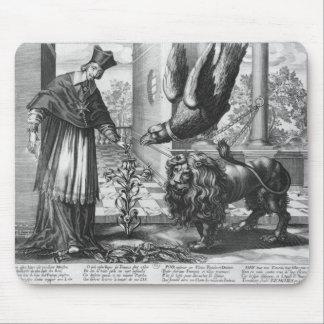 Allegory in praise of Cardinal Richelieu Mouse Mat