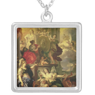 Allegory of a Reign, 1690 Silver Plated Necklace
