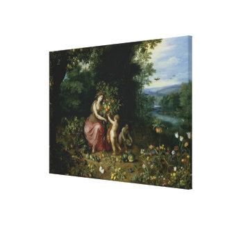 Allegory of Abundance Canvas Print