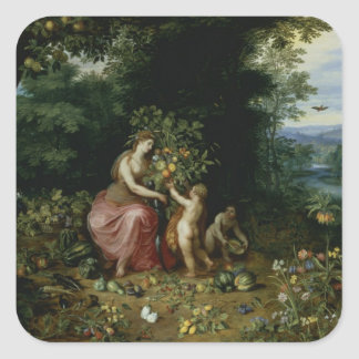 Allegory of Abundance Square Sticker
