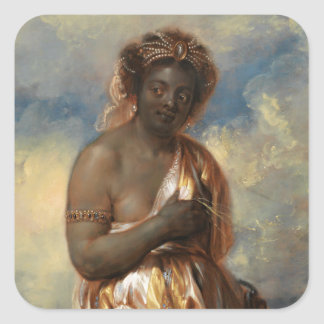 Allegory of Africa from the Continents Square Sticker