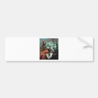 Allegory of Air by Jean-Baptiste Oudry Bumper Sticker