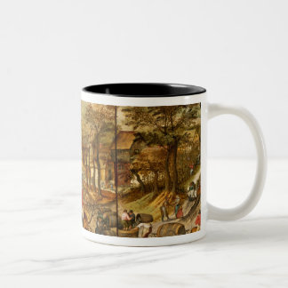 Allegory of Autumn Two-Tone Coffee Mug