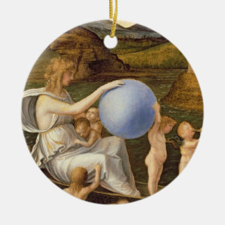 Allegory of Changing Fortune, or Melancholy (oil o Round Ceramic Decoration