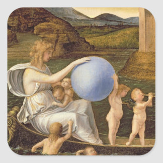 Allegory of Changing Fortune, or Melancholy (oil o Square Sticker