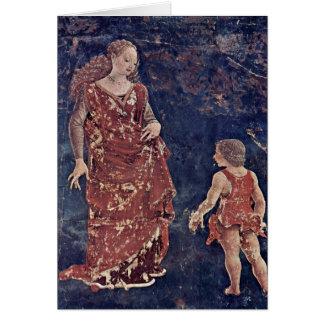 Allegory Of Fertility By Francesco Del Cossa Card