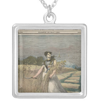 Allegory of France Silver Plated Necklace