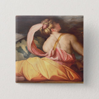 Allegory of Geography 15 Cm Square Badge